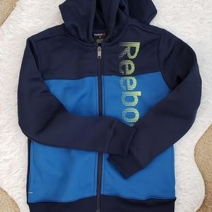 Boys size 7 REEBOK ZIP UP JACKET HOODIE